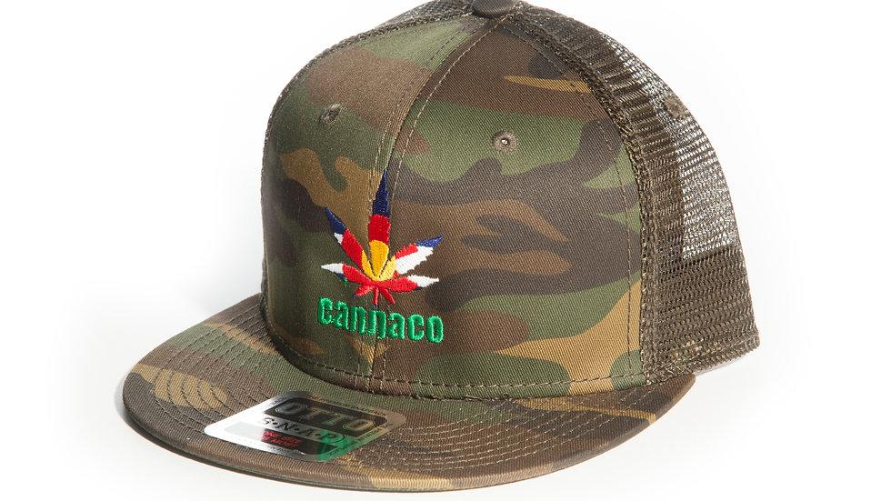 Camo Cotton Twill Cap with CannaCo Logo