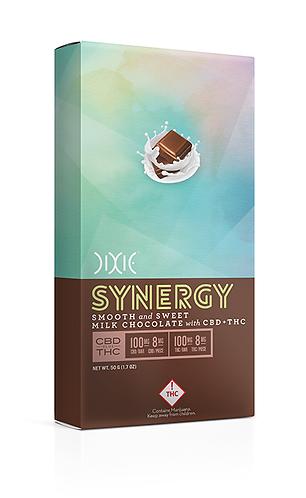 Dixie Elixir and Edibles Synergy Milk Chocolate Bar 1:1