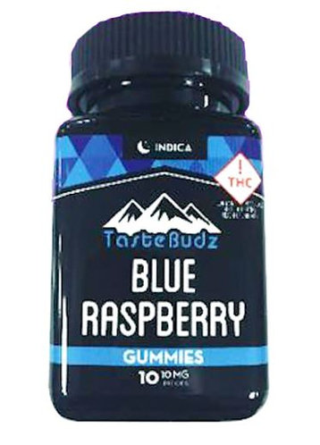 Tastebudz Blue Raspberry Indica 100mg Gummies