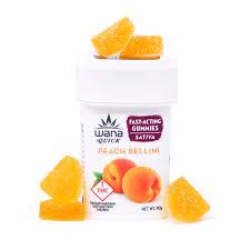 Wana Fast Acting Sativa Gummies- Peach Bellini 100 mg