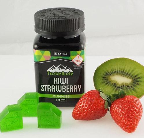 Tastebudz Kiwi Strawberry Sativa 100mg Gummies