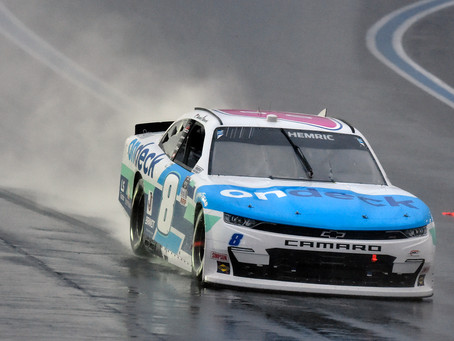 Hemric finishes 3rd at rain soaked Roval