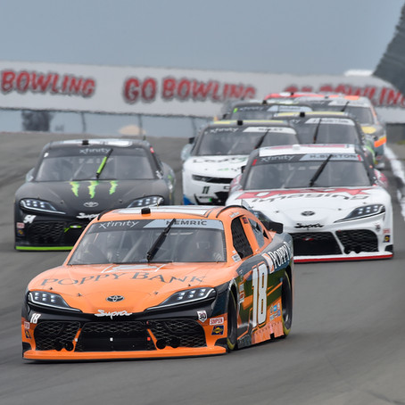 Hemric 22nd at The Glen After Late Spin
