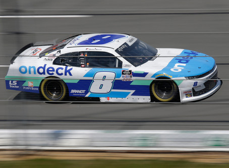 Hemric Wrecked Running Top Five at Pocono