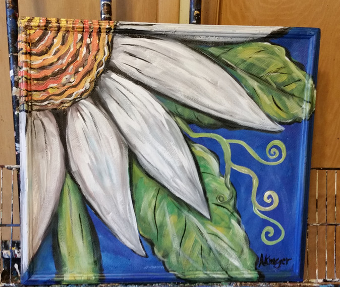 painted daisy screen
