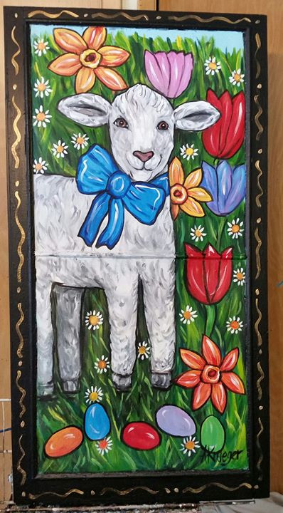 Lamb screen to go with the bunny.  Now I