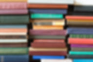 Piles of colorful books
