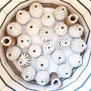 Bottles in kiln