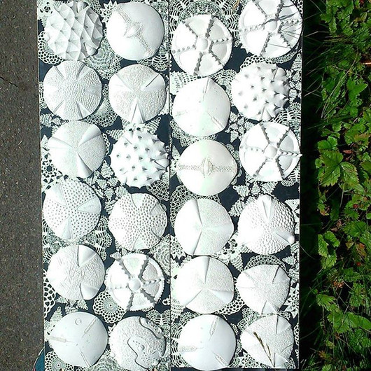Porcelain pollens drying