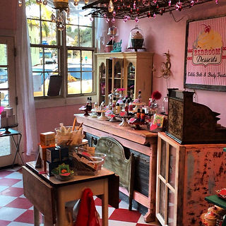 Bedroom Desserts sttore in Capitola offering edible lubricants, arousal products, bathbombs , lutions, for the bath and the bedroom.