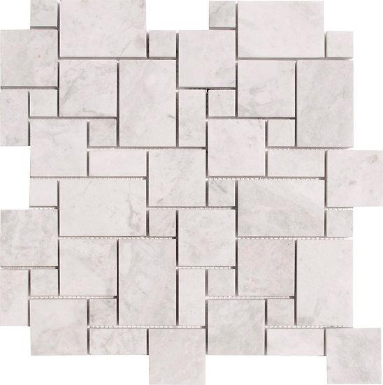 Mini Pattern Carrara Polished Marble Mosaic Tile