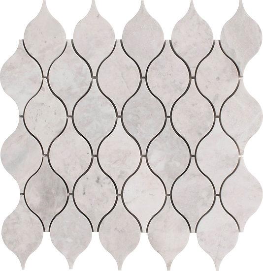 Lemon Carrara Polished Marble Waterjet Mosaic Tile