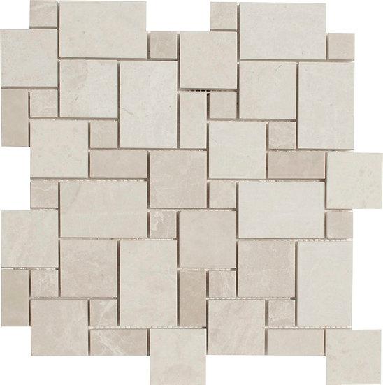 Mini Pattern Crema Nouva Polished Marble Mosaic Tile