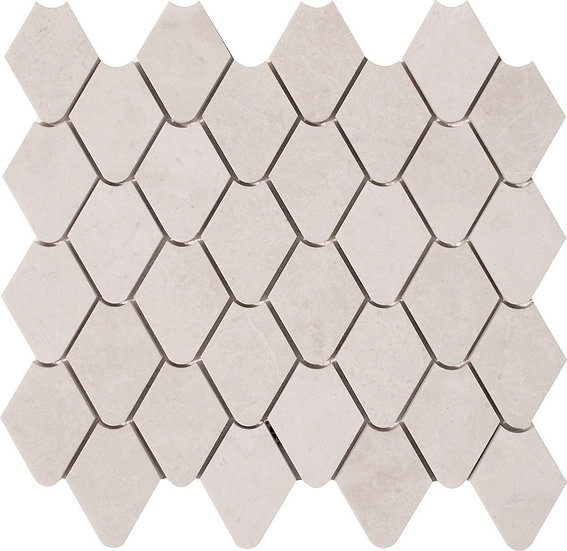 Rain Drop Crema Nouva Polished Marble Waterjet Mosaic Tile