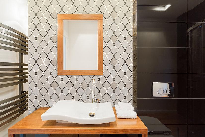 Lemon Crema Nouva Polished Marble Waterjet Mosaic Tile