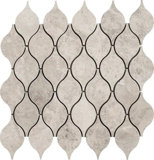 Lemon Silver Shadow Honed Marble Waterjet Mosaic Tile