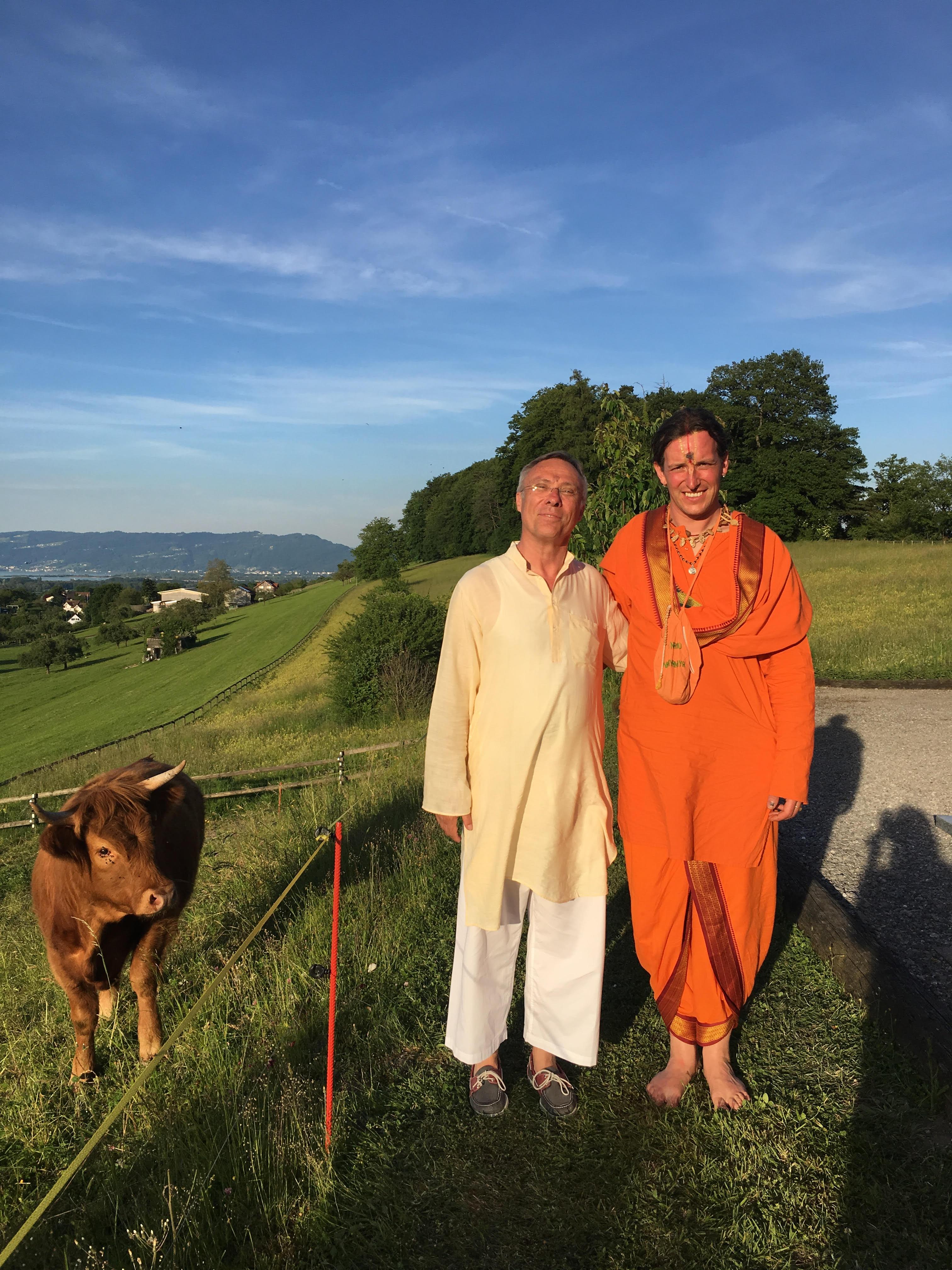 Christian and Swami Aniruddha