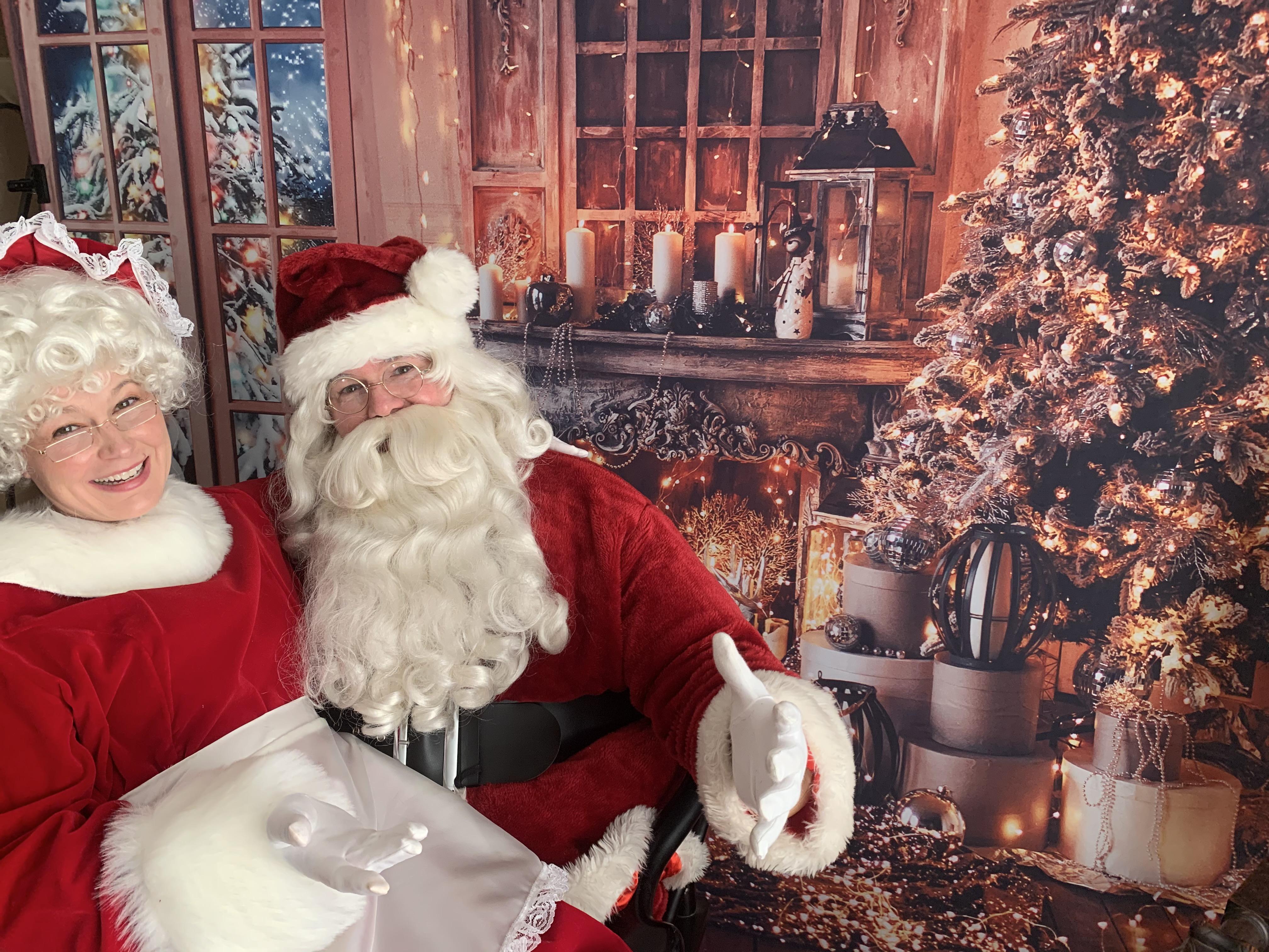 Santa's Living Room Backdrop