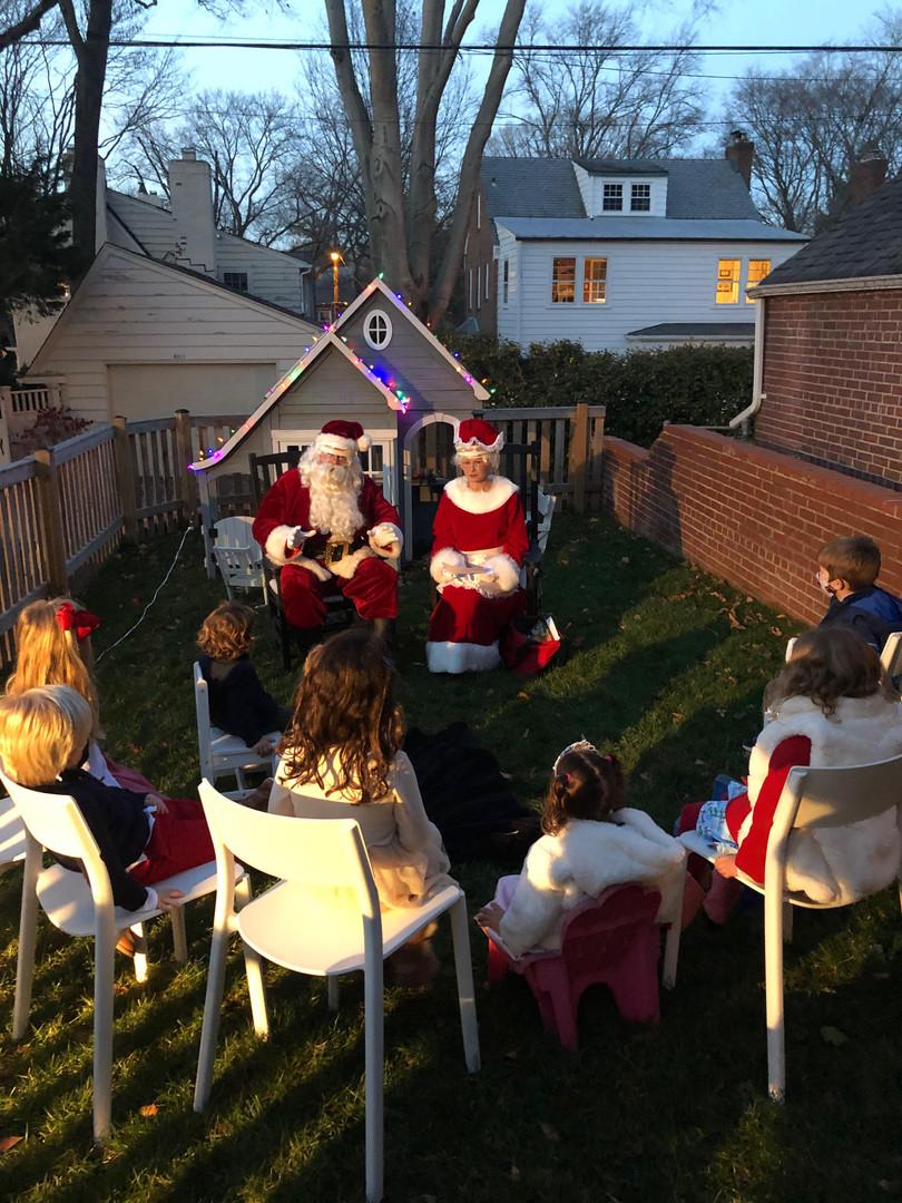 Carol and Gift Delivery Santa