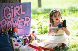 Girl Power Cake Backer