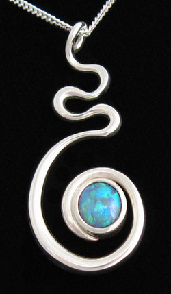 Sterling silver and Australian opal pend