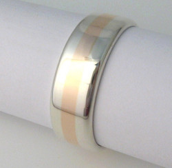 Sterling silver and 9ct rose gold by Tabitha Higgins