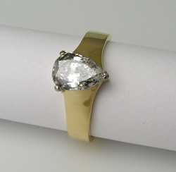 18ct white and yellow gold, diamond ring by Tabitha Higgins