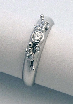 18ct white gold, diamonds ring by Tabitha Higgins