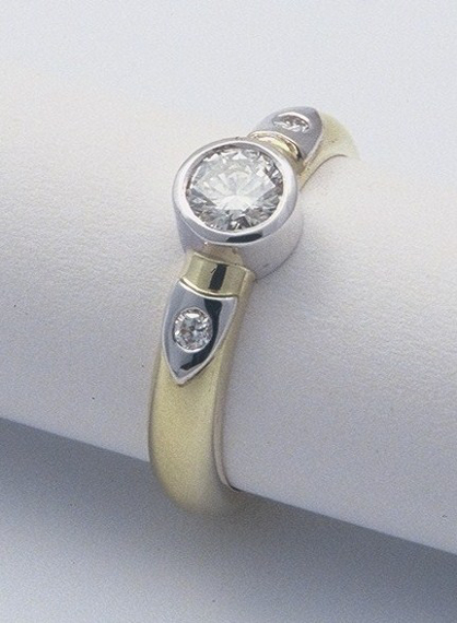 Diamonds, 18ct white and yellow gold ring by Tabitha Higgins