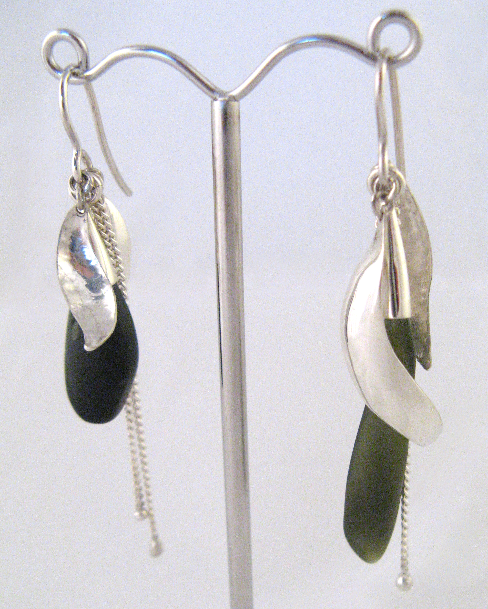 Sterling silver and New Zealand greensto