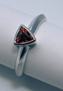 18ct white gold, ruby ring by Tabitha Higgins