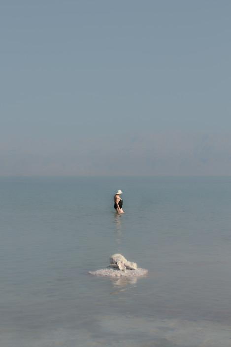 Woman in Dead Sea