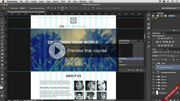 Download khóa học thiết kế giao diện web trên Photoshop CC