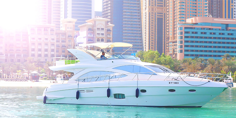 56FT Luxury Private Yacht in The Palm & World Island up to 04 HRS