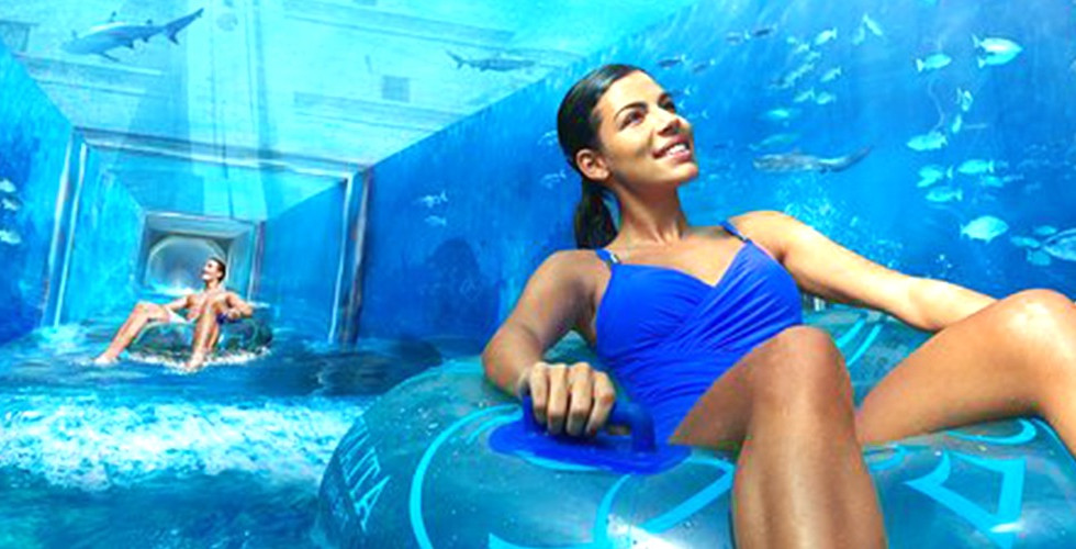 Atlantis Aquaventure Water Park and Lost Chamber Aquarium Tour