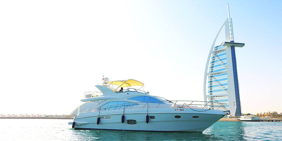 56FT Luxury Private Yacht in The Palm, World Island & Canal up to 06 HRS