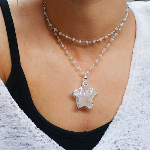 White Showstopper Necklace