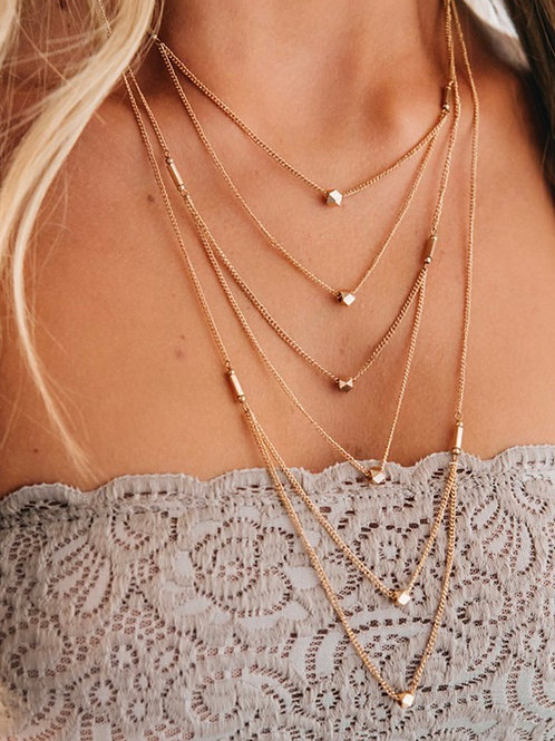 Gold Dramatic Necklace