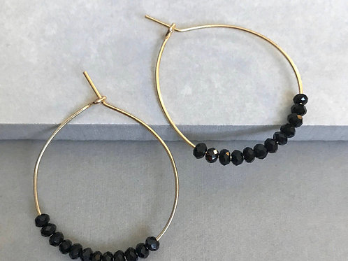 Beaded Oval Earrings