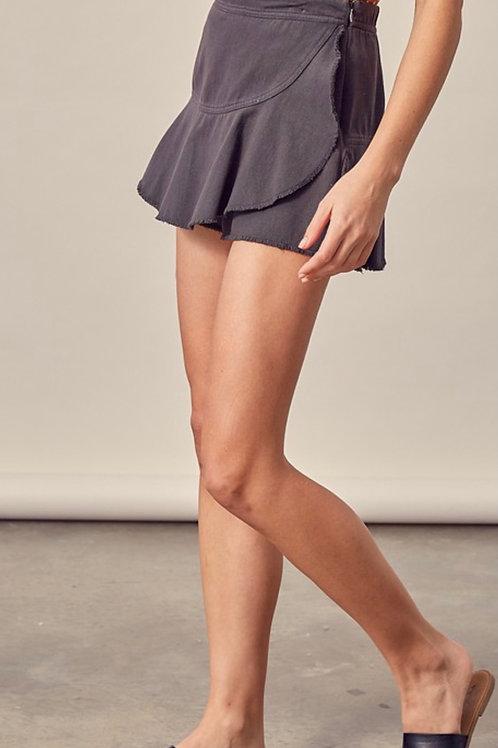 Charcoal Flared Skirt
