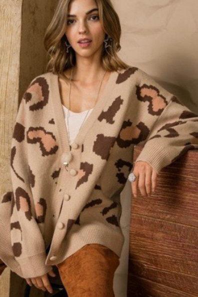 Latte Leopard Cardigan