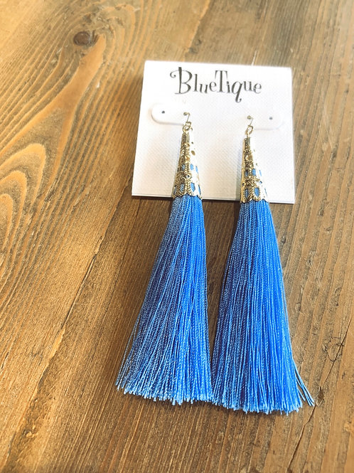Blue Capped Earrings