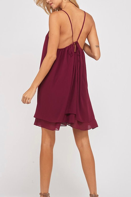 Burgundy Layered Dress