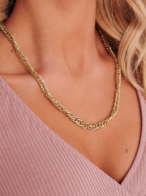 Gold Entangled Necklace