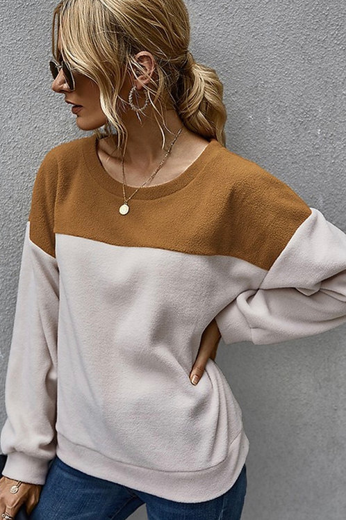 Caramel Striped Pullover