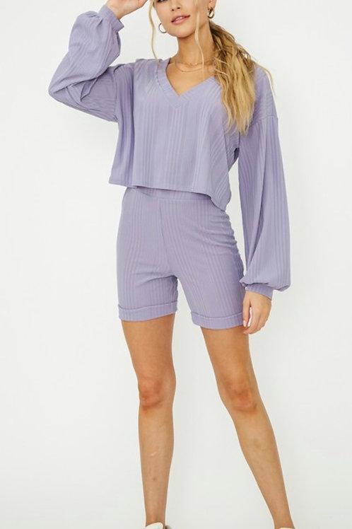 Lavender Bike Shorts