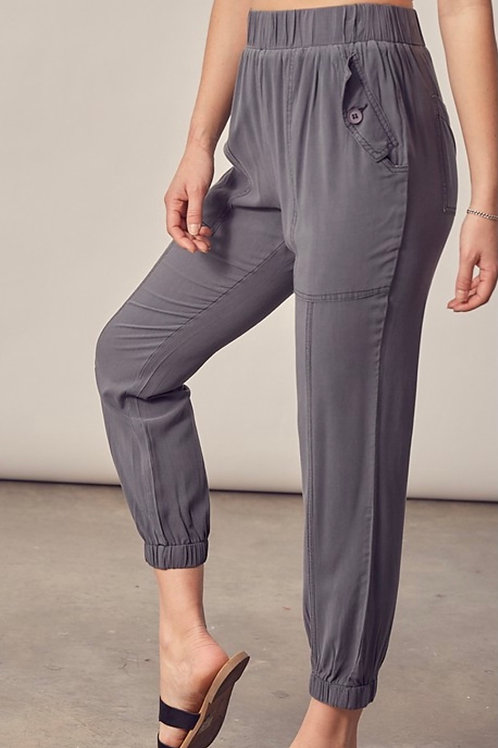 Charcoal Woven Trousers