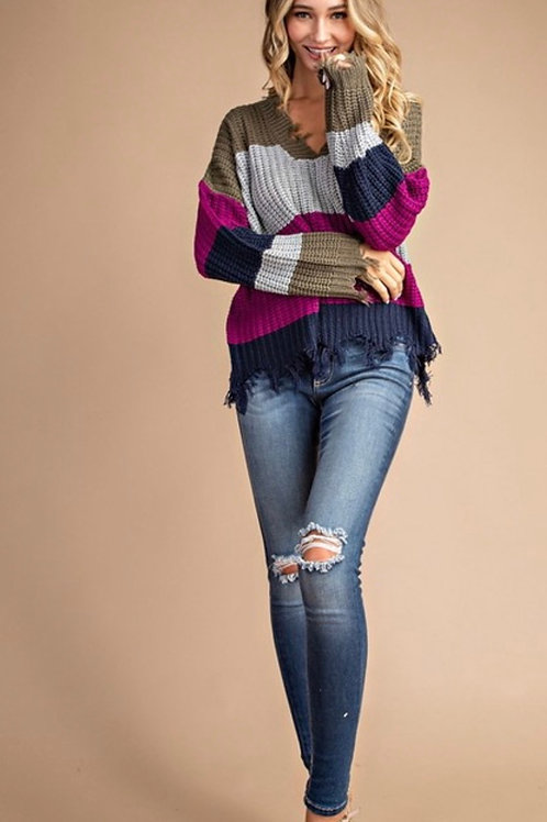 Orchid Striped Sweater