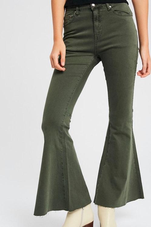 Olive Flared Pants