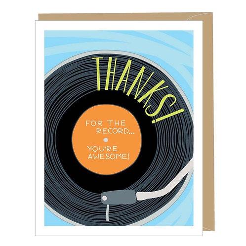 Vinyl Record Thank You Card